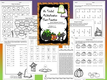 Halloween Activity Bundle for Math and ELA for grades 3 - 6