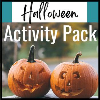 Halloween Activity Bundle for Middle School English Language Arts