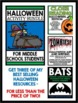 Halloween - Middle School Activity Bundle - Close Reading, Art, Writing