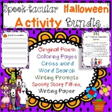 Spooktacular Halloween Activity Bundle with Writing Paper
