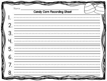 Halloween Activities - Candy Corn Sentence Building Center