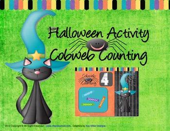 Halloween Activity - Cobweb Counting