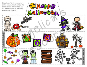 Halloween Activity : Crowns and Wristbands - Halloween Craft
