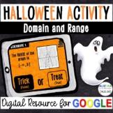 Halloween Digital Activity - Domain and Range