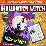 Halloween Activity: Flying Witch Collaborative Poster -- Writing and Art Project