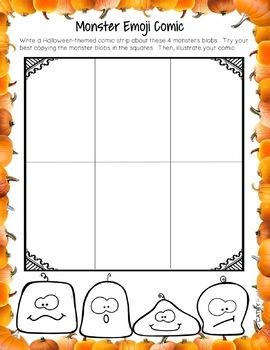Halloween Activity Fun Pack, Math, Poetry, Writing, Comic Strips