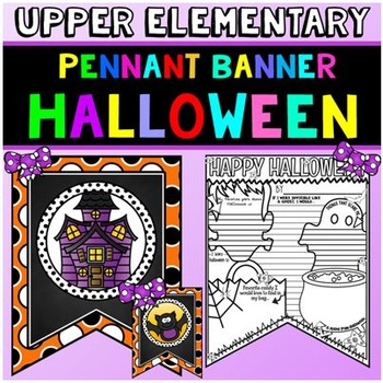 Halloween Activity: Halloween Banner: Halloween Writing Ac