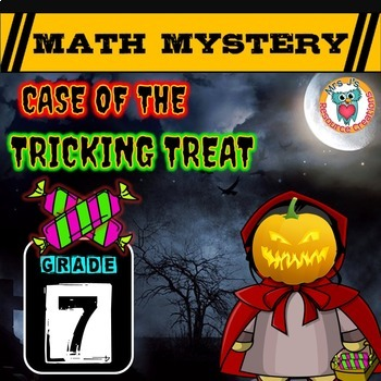7th Grade Halloween Activity : Halloween Math Mystery -Tricking Treat
