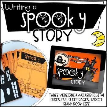 Halloween Writing Activity: Halloween, October Activity, Write a Spooky Story