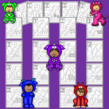 Halloween Activities: Number Tracing - Counting Acitivites - Just print & go!