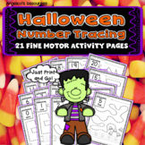 Halloween Activities: Number Tracing - Fine Motor Skills - Counting Numbers