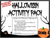 Halloween Activity Pack- Grade 4 (Includes math, reading, art, STEM, & breakout)
