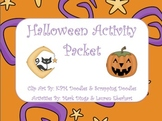 Halloween Activity Packet (Center Game, Writing Prompts, Math, Grammar)