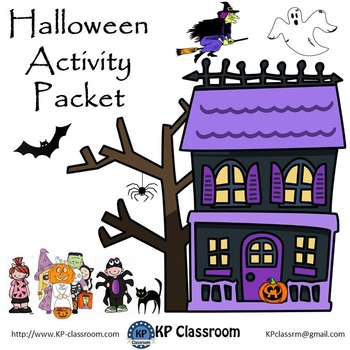 Halloween Activity Packet and Worksheets