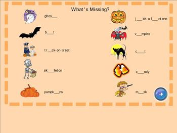 Halloween Activity Packet for SmartBoard