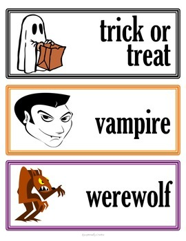 Halloween Activity Packet for the Autism / Special Education Classroom
