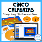 Spanish Halloween Activity Set - Cinco Calabazas {Mp3 included}