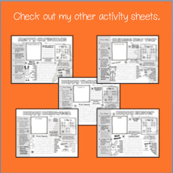 Halloween Activity Sheet