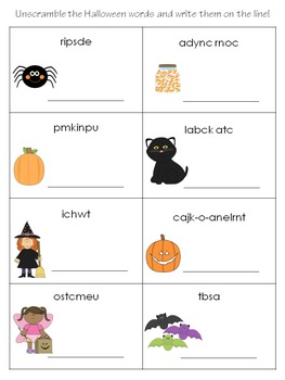 Halloween Activity Sheets
