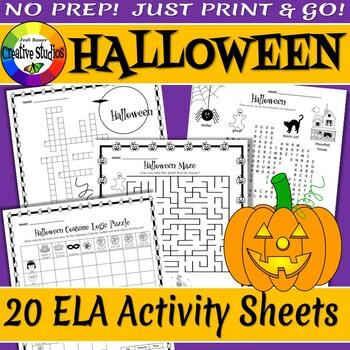 Halloween Activity Sheets - No Prep!
