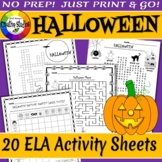 Halloween English Activity Sheets - No Prep!
