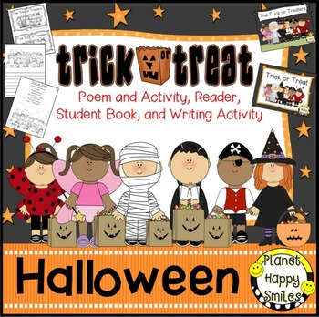 Halloween Activity ~ Trick or Treat Poetry, Reading and Writing Activities