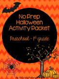 No Prep Halloween Activity Packet (Preschool-1st)