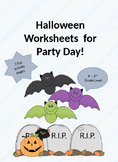 Halloween Activity Worksheets K - 2