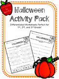 Halloween Activity and Writing Pack