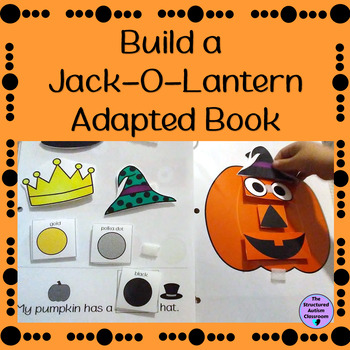 Halloween Adapted Book Build a Jack-O-Lantern for Autism and Special Education