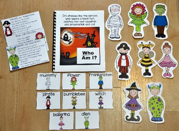 "Halloween Adapted Book--""Who Am I?"""