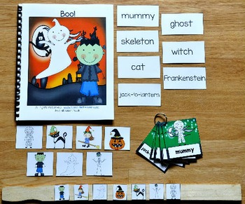 Halloween Adapted Book and Vocabulary Activities