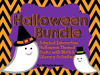 Halloween Adapted Interactive 6 Book Bundle & Activities {PreK, Autism, SPED}