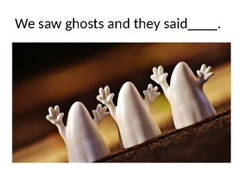 Halloween Adapted Story and Questions