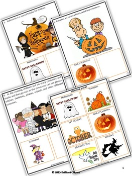 Halloween Activity - Adapted Task Book-Activity for KG-3rd Grade