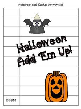 Halloween Add 'Em Up! Math Activity