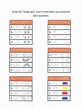 Halloween Add & Subtract w/ Regrouping Word Problems: Monster Maker Activity