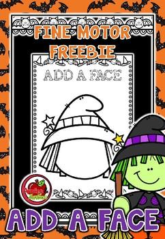 Halloween Add a Face - Fine Motor FREEBIE
