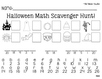 Halloween Add and Subtract Around The Room {With 5 Riddle Recording Sheets}