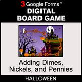 Halloween: Adding Dimes & Nickels & Pennies - Digital Boar