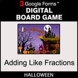 Halloween: Adding Like Fractions - Digital Board Game   Go