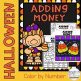 Halloween Adding Money Color by Number