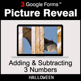 Halloween: Adding & Subtracting 3 Numbers - Google Forms |