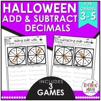 Halloween Adding & Subtracting Decimals Activity