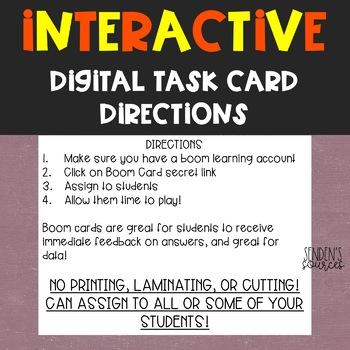 Halloween Adding Within 10 Digital Task Cards