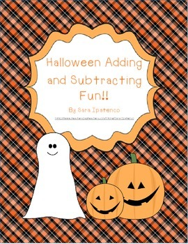 Halloween Adding and Subtracting FUN!!