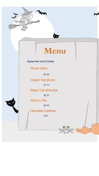 Halloween Adding and Subtracting Money