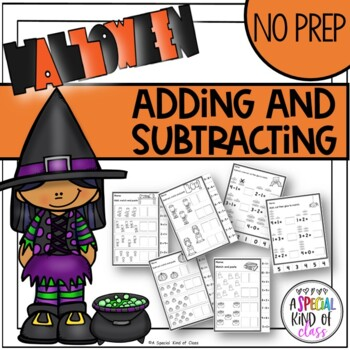 Halloween No Prep Math - Adding and Subtracting