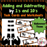 Halloween Adding and Subtracting by 1s and 10s