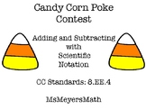 Halloween - Adding and Subtracting with Scientific Notation - Poke Game